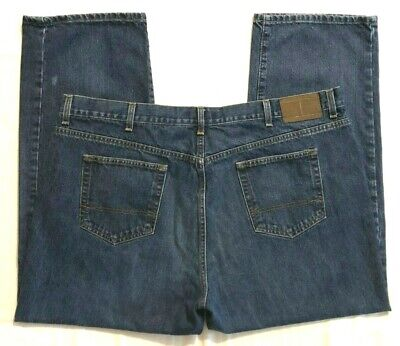 MENS 44 X 30 TOMMY HILFIGER RELAXED FIT BLUE JEANS
