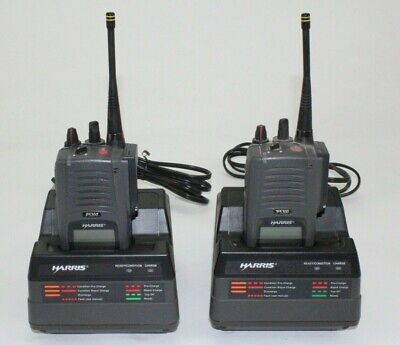 Lot Of 2 Harris P5300 Two Way Portable Multi-mode Radio 800mhz With Charger