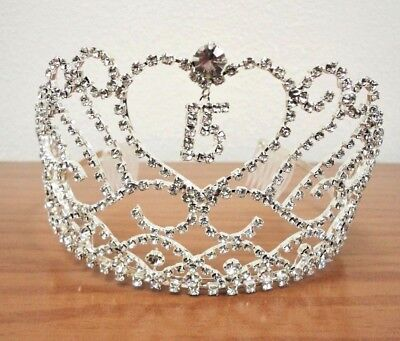 Heart and Charm Tiara Sweet 15 Quince Quinceanera  #CH-2114](Heart Tiara)