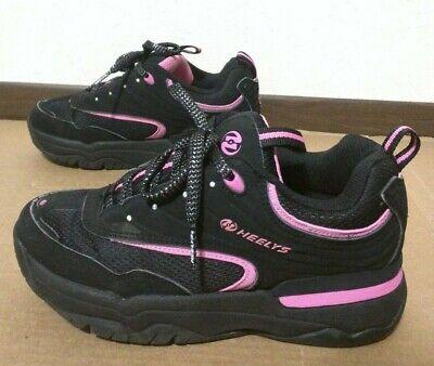 Heelys Womens GLITZ 9119 Black Pink Mega Style (NO WHEELS)- No Grindplates- Sz 6