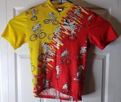 030b8e760 Girodana 1 2 Zip Cycling Shirt Jersey made in Italy Small Cartoon Mouse on  Bike