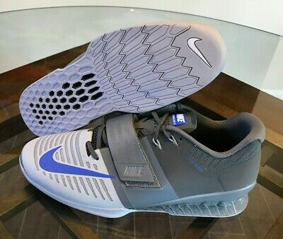 the latest 28b73 4c272 Nike Romaleos 3 Weightlifting CrossFit Trainers Cool Gray Blue 852933-001  Sz 13