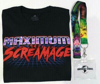 Halloween Horror Nights T Shirts (UNIVERSAL STUDIOS HALLOWEEN HORROR NIGHTS MAXIMUM SCREAMAGE T-SHIRT &)