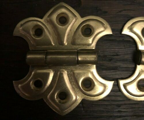 "OLD NEW STOCK Vintage BUTTERFLY Cupboard Cabinet Door Hinges 2-5/16"" x 2-1/16"""