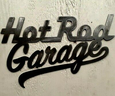Garage Vintage DECOR Hot Rod Garage Metal Sign Aged polish