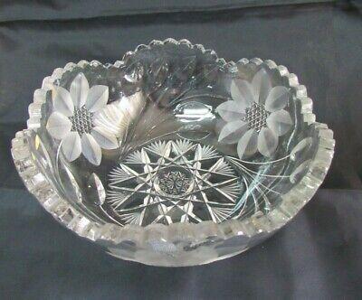 American Brilliant Cut Flower Period Center-piece bowl 1890/'s