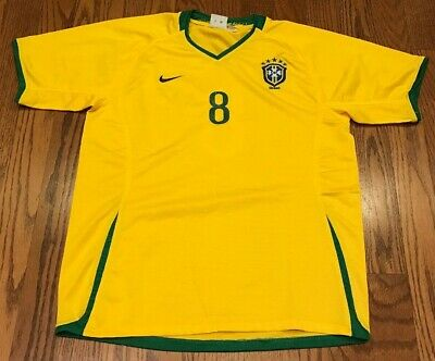 Kaka Yellow Brasil National Team Home Jersey Football Soccer Nike Size 28 for sale  Shipping to Canada