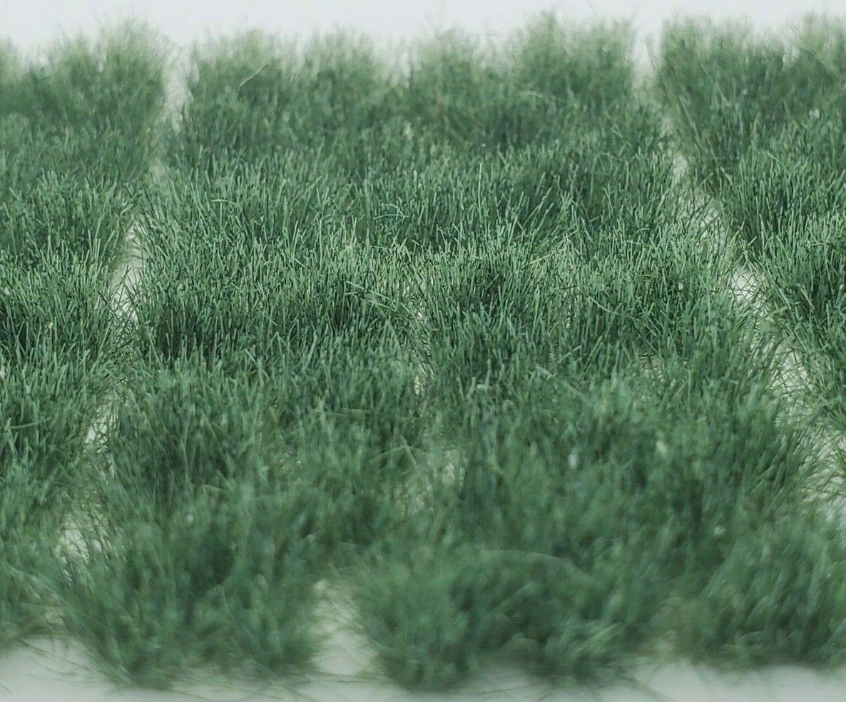 Self Adhesive Static Grass Tufts for Miniature Scenery -Plain Green- 6mm