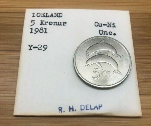 1981 5 KRONUR ICELAND