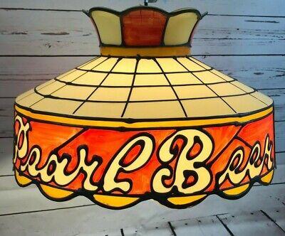 Tiffany-stil-bar (Pearl Beer Aufhängen Tiffany Stil bar Licht Zeichen Hartplastik Vintage)