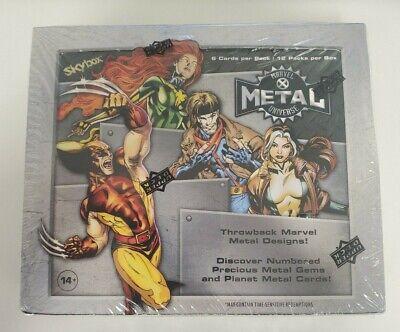 2020 2021 Marvel X-Men Metal Universe Trading Card Sealed Box (12 Packs / Box)