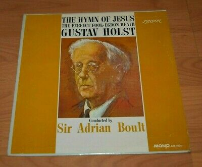 London LP Gustav Holst Adrian Boult Hymn of Jesus LP