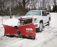 Commercial snow plowing. Salting. Fully insured.