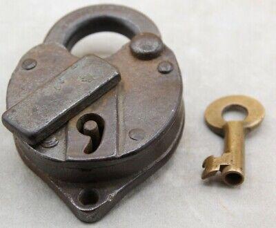 Working Tested 19th Century Boston & Maine Railroad Switch Lock + Original Key