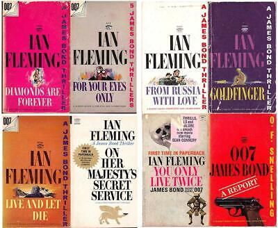 Ian Fleming's JAMES BOND 007 Lot of 8 Signet Paperbacks