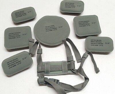 USGI ACH MICH Helmet Pad Set & 4-Point Foliage Green Chin Strap Replacement