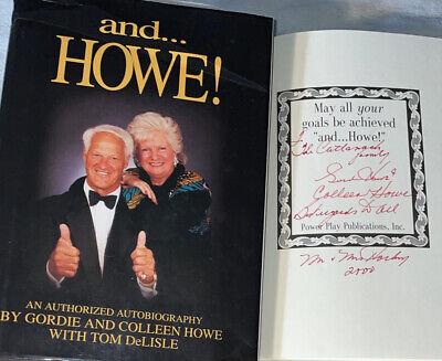 SIGNED Hockey Great Colleen & Gordie Howe and Howe! Book NHL Hardcover HC DJ