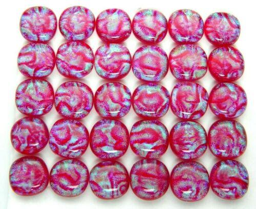 Lot 30 pcs square gorgeous DICHROIC earring bracelet FUSED GLASS (Q1) CABOCHON