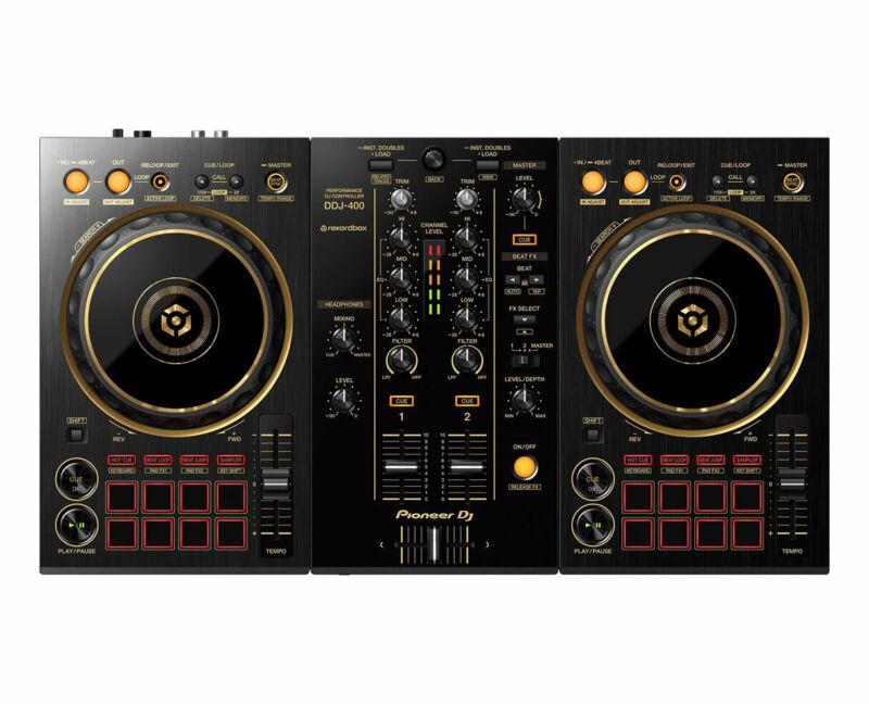 Pioneer DJ DDJ-400-N Gold 2-Deck Digital DJ Controller w/ Rekordbox DDJ400N