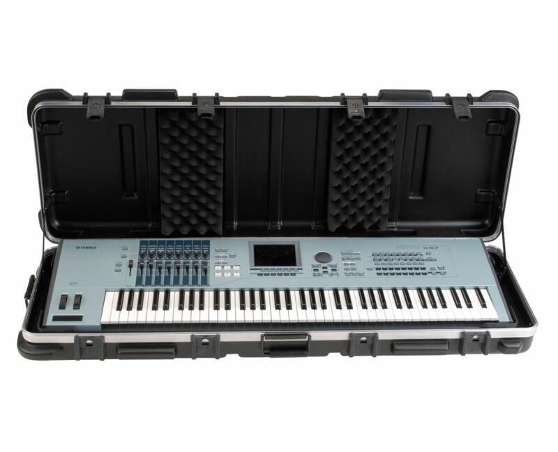 """SKB 1SKB-4214W 42"""" x 15"""" 61-Key ATA Keyboard Case w/ Wheels PROAUDIOSTAR"""