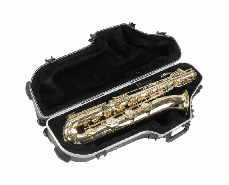 SKB 1SKB-455W Contoured Pro Universal Baritone Saxophone Sax Case with Wheels