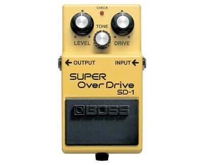 Boss SD-1 Super OverDrive Guitar Effects Pedal Stomp Box PROAUDIOSTAR - Used - Guitar Effects Pedal