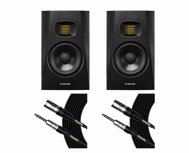 2x ADAM T5V Active Studio Monitor Powered Speaker + Mogami Cables