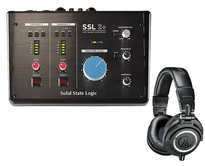 Solid State Logic SSL2+ 2-in/4-out USB Audio Interface + Mog