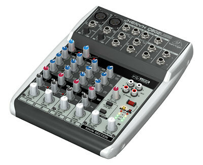 Behringer XENYX Q802USB 8-Input Mixer with USB/Audio Interface
