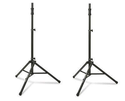 2x Ultimate Support TS-100B (Pair) Lift-Assist Aluminum Tripod Speaker Stands