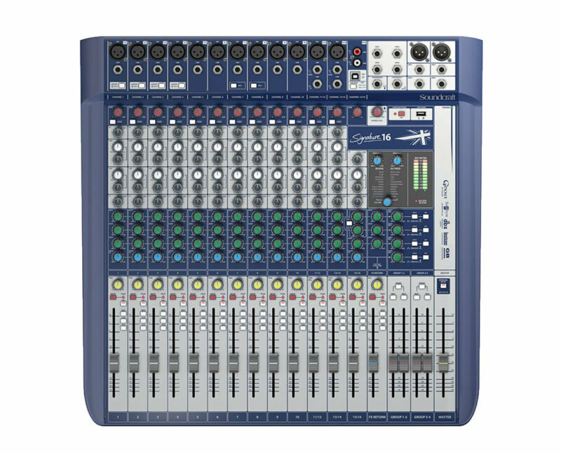Soundcraft Signature 16-Channel Compact Analogue Mixer