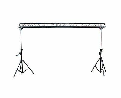 ProX T-LS35C 5/10/15ft Wide Triangle Lighting Truss Light Stand with - Truss Crank Stand