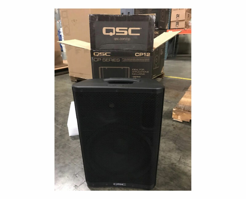 """QSC CP12 CP Series 12"""" Compact Active Powered 1000w Speaker Monitor"""
