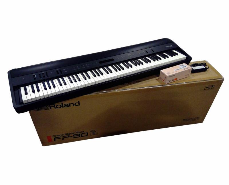 Roland FP-90 (Black) Portable 88-Key Digital Stage Piano Keyboard - Used