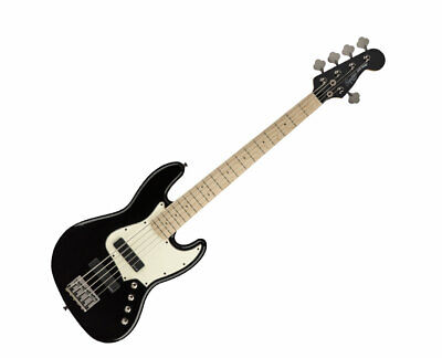 Squier Contemporary Active Jazz Bass HH V - Black w/ Maple FB - Used