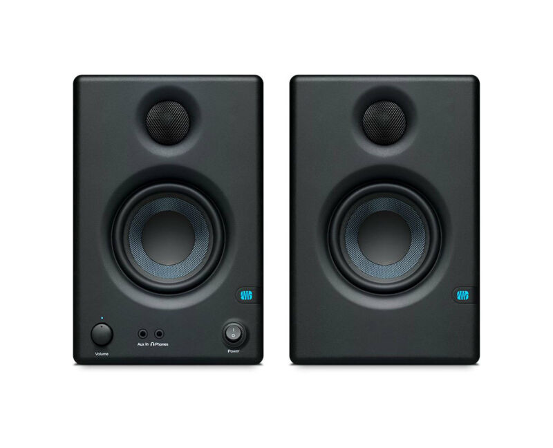 PreSonus Eris E3.5 Compact 3.5-Inch Powered Studio Monitor Active Speaker Pair