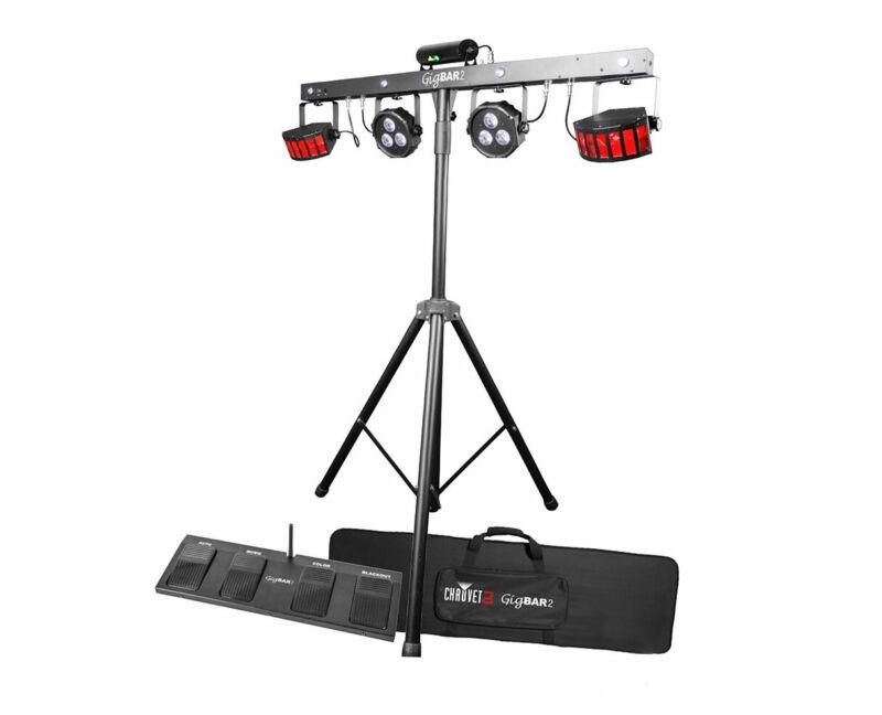 CHAUVET DJ GigBAR 2 Gig Bar Derby Par Laser Strobe and UV Black Light