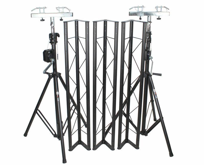 ProX T-LS35VC Lighting System Triangle Truss w/ Crank-Up System PROAUDIOSTAR