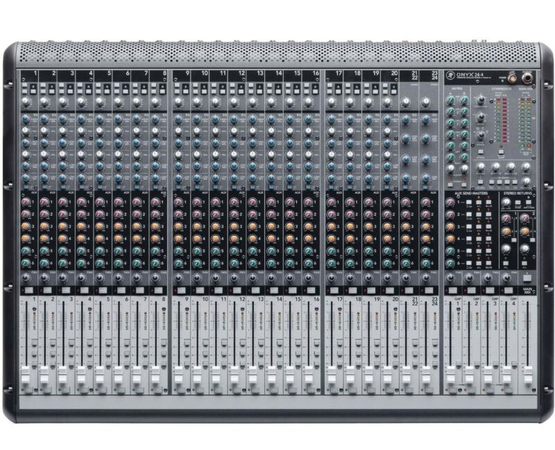 Mackie Onyx 24.4 24-Channel Analog Live Sound Mixing Console--7270 Reduced Price