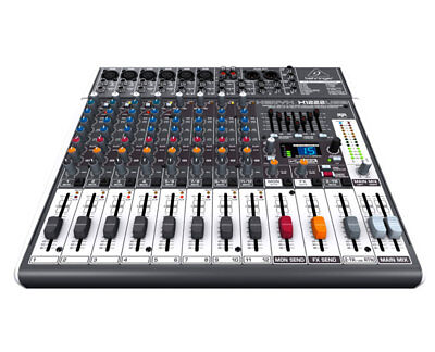 Behringer XENYX X1222 USB Mixer with Mic Preamps and Compressors