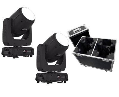 2x Chauvet Intimidator Spot 355 IRC 90 Watt LED Light + Flight Case Bundle