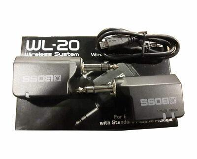 Boss Wireless WL-20 Reciever and WL-T Transmitter - -