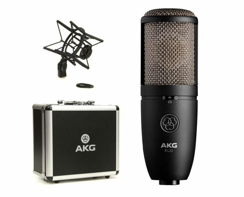 AKG P420 Multi-Patter Large Diaphragm Studio Condenser Recording Mic Microphone
