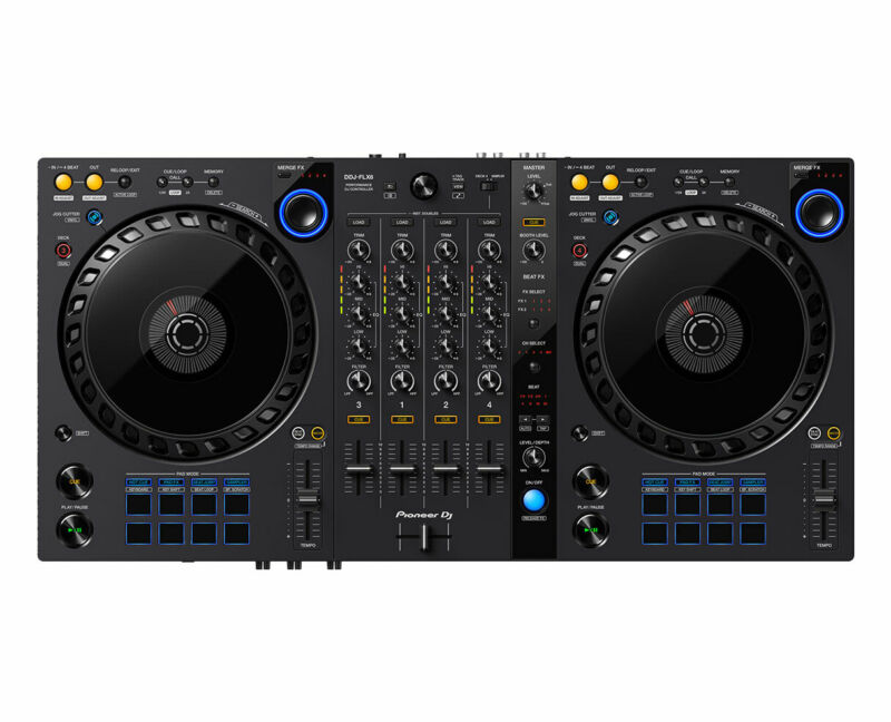 Pioneer DDJ-FLX6 4-Channel Serato & Rekorbox DJ Controller w/ Merge FX