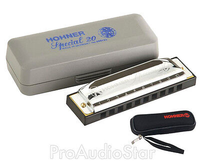 Hohner 560 Special 20 Harmonica Key of B Mouth Harp PROAUDIOSTAR on Rummage