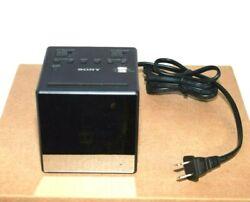 Authentic Sony ICF-C1T AM/FM Dual Alarm Clock Radio Black Free Fast Shipping