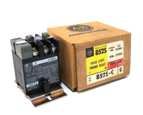 NEW ALLEN BRADLEY 852S-C SOLID STATE TIMING RELAY 852SC