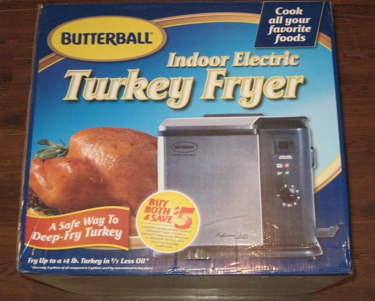 NEW!  Masterbuilt Butterball Indoor Electric Turkey Fryer -