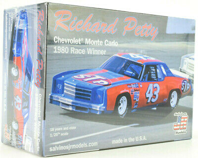 Salvino JR Models Ricard Petty 1980 Chevrolet Monte Carlo Win 1/25 Model Car Kit