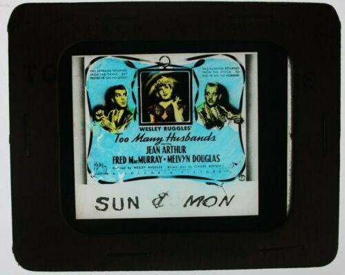 Too Many Husbands 1940 glass slide - Jean Arthur - free shipping